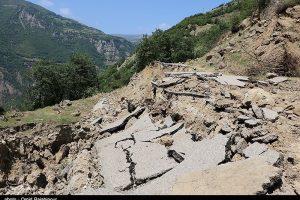 رانش زمین گاز ۴۹۰ خانوار را در شرق گیلان قطع کرد