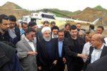 بازدید دکتر روحانی از مناطق سیل زده استان لرستان