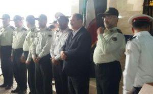 ایستگاه پلیس راهور فلکه گاز شهر رشت با حضور فرماندهی انتظامی استان گیلان سردار میر حیدری افتتاح شد