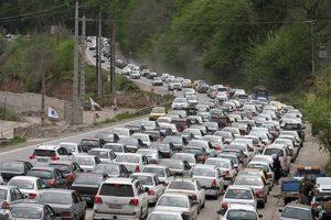 ترافیک پر حجم در جاده های شمال کشور
