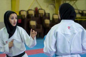 بانوی گیلانی به عنوان مربی عازم مسابقات کاراته آسیا شد