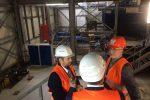 به منظور آشنایی با سیستم های نوین تبدیل ضایعات زباله به برق، از کارخانه های زباله سوز در کایزرسلاوترن بازدید کرد