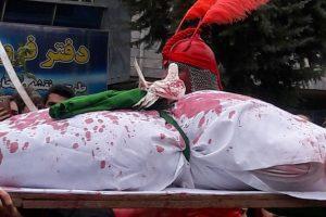 تصاویر خبری مراسم عزاداری ظهر عاشورا در روستای ضیابر شهرستان صومعه سرا