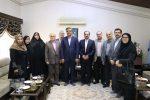 حضور مجتبی وهابی مدیر مسئول هفته نامه نقش گیلان و پایگاه خبری جاهد خبر در دیدار نوروزی با دکتر سالاری ، استاندار محترم گیلان
